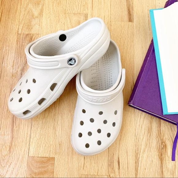 Winter White Crocs Classic Clogs | Poshmark